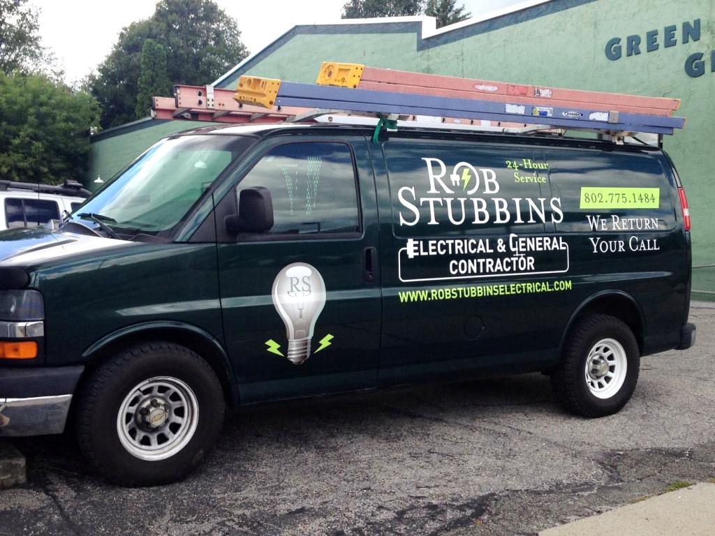 Rob Stubbing Green Van Wrap 2014